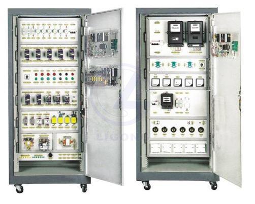 本装置采用标准配电柜为主体柜,双面结构,包含如下资源:电源控制,三相