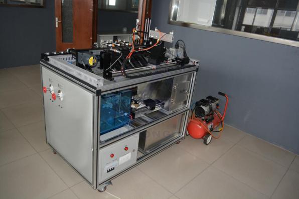 电气控制由步进电机和伺服电机双向选择动力源,电磁阀,气缸,开关电源图片
